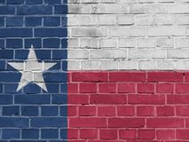 De V.S. verklaren Concept: Texas Flag Wall stock foto's