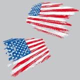 De V.S.vlag van Grunge Royalty-vrije Stock Afbeeldingen