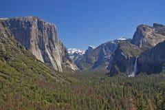 De V.S. - Yosemite Nationaal Park - de mooie mening over Yosemite Stock Afbeelding