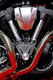 De v-tweeling Motor van het Type Stock Afbeeldingen