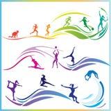 De vaardigheden van de sport royalty-vrije illustratie