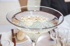De vaas en de kaarsen van het glas Royalty-vrije Stock Foto