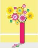 De vaas van bloemen Stock Afbeeldingen