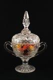 De vaas van het kristal met suikergoed Royalty-vrije Stock Afbeeldingen