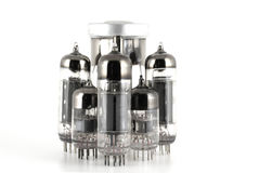 De vacuüm radiobuizen van het glas royalty-vrije stock afbeeldingen