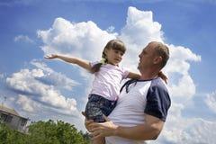 De vader en de dochter Stock Fotografie
