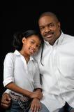 De vader en de Dochter sluiten Toge Royalty-vrije Stock Foto's