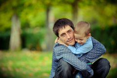 De vader en de zoon Stock Foto