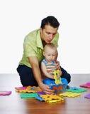 De vader en zijn zoon Royalty-vrije Stock Fotografie