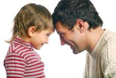 De vader en zijn zoon Stock Afbeelding