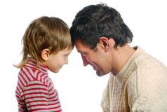 De vader en zijn zoon Stock Fotografie