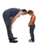 De vader onderwijst zijn dochter stock fotografie