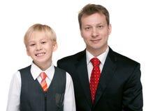 De vader van het portret met zoon Royalty-vrije Stock Foto's