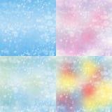 De vage achtergrond van de sneeuw Kerstmis Stock Foto's