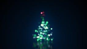 De vage lichten van de Kerstboom Royalty-vrije Stock Afbeeldingen