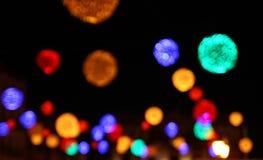 De vage lichten van Kerstmis Stock Foto's