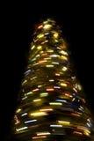 De vage roterende boom van het Nieuwjaar stock fotografie