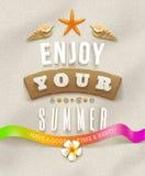 De vakantieillustratie van de zomer Stock Afbeelding