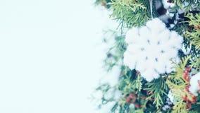 De vakantie feestelijke achtergrond van de Kerstmiswinter stock afbeelding