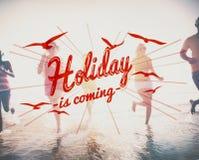 De vakantie is het Komende Concept van de Vieringsgebeurtenis stock foto