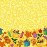 De vakantie naadloos patroon van Kerstmis Stock Afbeelding