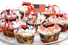 De Vakantie van Cupcake stock fotografie