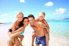 De vakantie van de familiezomer Stock Afbeelding