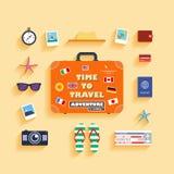 De vakantie van de planningszomer vector illustratie