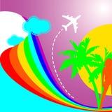 De Vakantie van de Regenboog van de zomer Stock Afbeelding