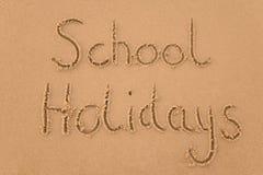 De vakantie van de school in zand Royalty-vrije Stock Foto