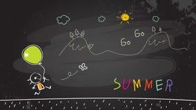 De vakantie van de schoolzomer stock illustratie