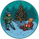De vakantie van de winter Stock Fotografie