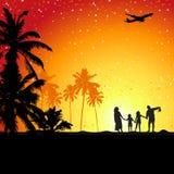 De vakantie van de zomer, familievacatio Stock Fotografie