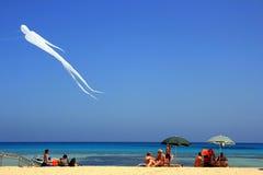 De vakantie van de zomer in het strand Capo, Sicilië van San Vito lo Stock Afbeelding