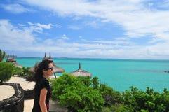 De Vakantie van de zomer in Mauritius Stock Foto