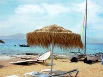 De vakantie van de zomer op een overzees Royalty-vrije Stock Fotografie