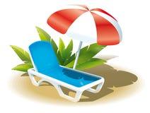 De vakantie van de zomer op het strand Stock Fotografie