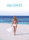 De vakantie van de zomer op het strand royalty-vrije stock foto
