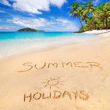 De vakantie van de zomer op het strand Royalty-vrije Stock Foto's
