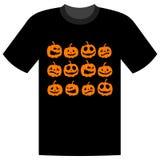 De vakantie van Halloween, t-shirtontwerp stock illustratie