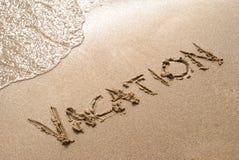 De vakantie van het strand Royalty-vrije Stock Afbeeldingen