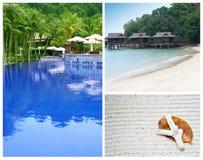De vakantie van het strand bij een tropisch eiland Stock Foto's