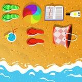 De vakantie van het de zomerstrand illustrasyon Royalty-vrije Stock Fotografie