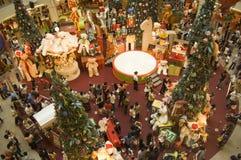 De Vakantie van Kerstmis in winkelcentrum KL Medio Vally Stock Afbeeldingen