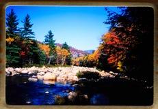De vakantie van New England: 35 mm glijdt uitstekende de reis en de familieuitjes van 1970 ` s Stock Foto's