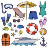 De vakantie van de strandzomer Stock Foto
