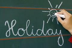 De vakantie van Word en glanst Stock Afbeelding