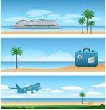 De vakantieachtergrond van de reis Royalty-vrije Stock Foto's