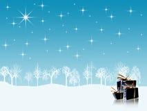 De vakantieachtergrond van de winter royalty-vrije illustratie