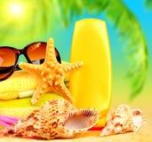 De vakantieachtergrond van de zomer Stock Fotografie